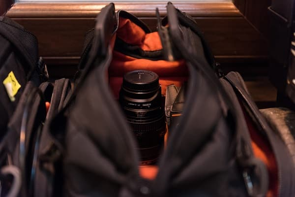 stada blog post - 3 stages video production - open camera bag