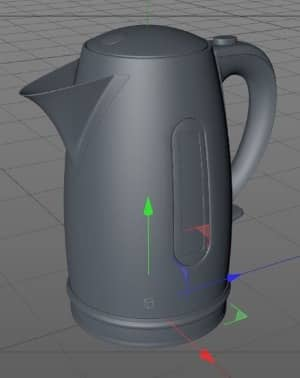 stada blog post - how do you create 3d model - 3d model of kettle material and geometry